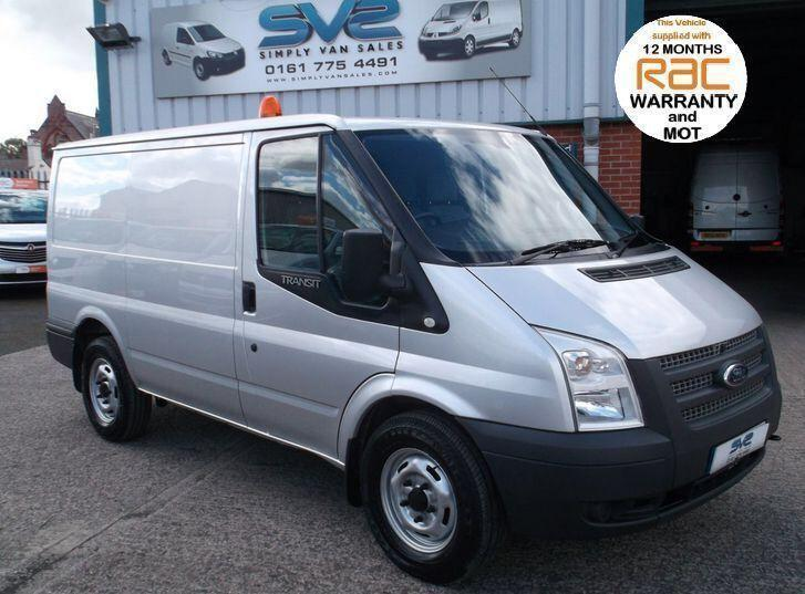 2012 12 FORD TRANSIT 330 SWB LOW ROOF RWD WITH 6 SPEED IN SILVER 63,000 MILES FH