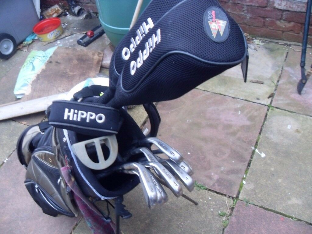 CHEAP SET OF GOLF CLUBS WITH BAG AND 12 GOLF BALLS30 THE LOTin Birkenhead, MerseysideGumtree - CHEAP SET OF HIPPO GOLF CLUBS INCLUDES ; 2,3,4,5,6, IRONS PLUS P/W S/W DRIVER & 3 WOOD WITH COVERS & PUTTER THE BAG HAS A STAND WITH IT ALSO IM THROWING IN A PING PUTTER PLUS 12 GOLF BALLS GOOD QUALITY £30 THE LOT MAY BE ABLE TO DELIVER