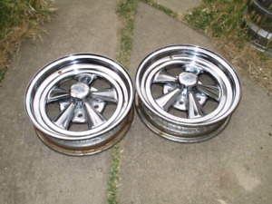 Wanted  pair of chevy 15 by 5 or 6 inch wide cragar ss rims