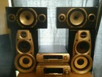 TECHNICS SYSTEM AMP + SPEAKER+MONITOR AUDIO MMP2 SPEAKER
