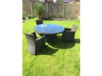 Rattan Garden Dining Table Set