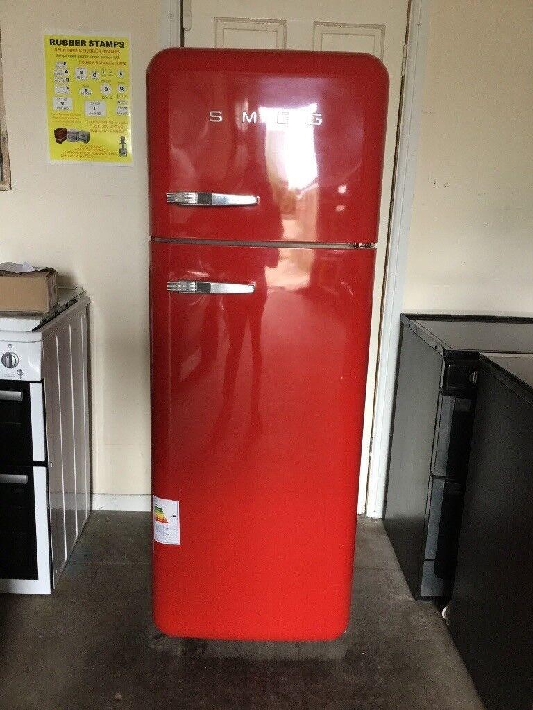 Smeg Fridge Freezer Fab30 Red 3 Months Warranty Free Local Delivery