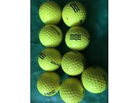 Yellow practice balls