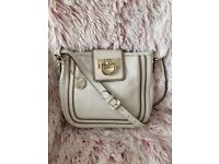 DKNY White Leather Crossover/Shoulder bag