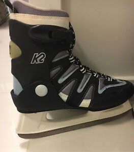 K2 woman's ice skates wore  once 9