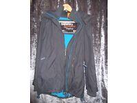Superdry Professional The Parka, Unisex, Grey with blue fleece lining Parka, Size Medium