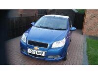 2009 Chevrolet Aveo 1200cc 83 LS for sale, MoT June 30, 2018, below average mileage for year