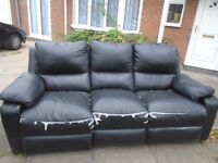Leather Recliner Sofa ******FREE TO COLLECT******