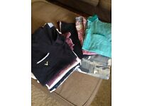 Joblot men's tshirts and pair of cargo shorts
