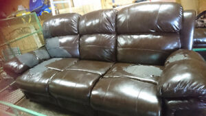Free leather recliner loveseat and couch