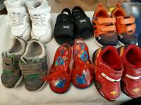 Seven pairs of size 4 baby/toddler shoes/trainers/sandals