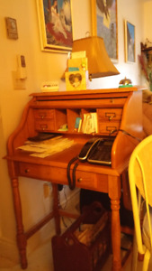 ROLL TOP PINE DESK price reduced