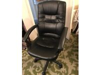 Office Chair Black leather type for sale
