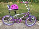 "KIDS GIRLS CHILDREN GROOVY CHICK CHOPPER BIKE 18"" WHEEL AGE 5-10 WITH HELMET BICYCLE"