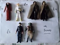 Vintage Star Wars figure and several original 1977 to 1988 available R2D2 LUKE LEIA YODA HAN C3P0