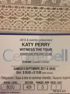 Billets Katy Perry + CD (9 septembre 2017)