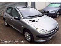 Bargain LOW MILES AUTO 2002 Peugeot 206 1.4 five dr AUTO just 36000 miles from new, LONG MOT 2 keys