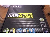 Asus M5a78l-m usb 3 motherboard! open to offers!