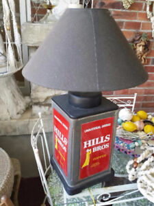 Unique 'Hills Bros' Coffee Can Lamp - Blenheim