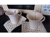 2 Latte mugs