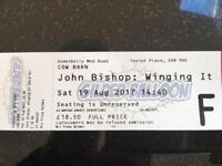 John Bishop Fringe ticket