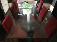 Habitat Glass Dining Table & 6 Chairs
