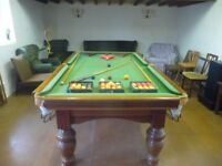 3/4 size snooker table with custom table-tennis top