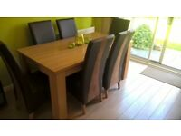 Dining Table and 6 chairs, Harvey's Hampshire range