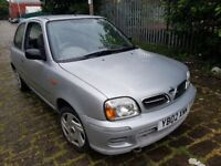 2002 nissan micra tax and tested low mileage