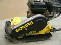 BOMAG 8/34 Plate compactor/whacker and rubber mat.