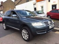 VW VOLKSWAGEN TOUAREG SE SPORT 2.5 DIESEL AUTO JUST SERVICED SATNAV HEATED LEATHERS PARKING SENSORS