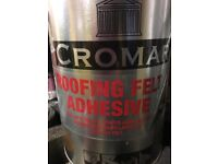 Cromar 5 Litre Black Roofing Bitumin Paint - New £10. Great For Sealing Damaged Flat Roofs