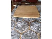 Vintage Retro Ercol Blonde Coffee Table on Hairpin Legs