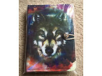 "7 inch Case Cover Book For 'Tablet - 7"" Multi coloured wolf Case"