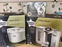 Mint condition Tommee Tippee prep machine, steriliser and 4 new 5oz bottles for sale £80
