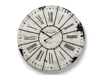 Large Antique White Wall Clock