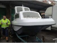 17ft 60hp 2stroke boat for sale