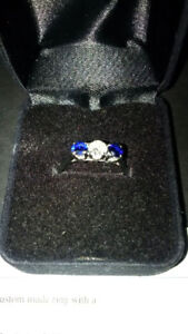 Diamond and Blue Sapphire Ring - Appraised Value $2,150.00