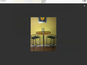 Bar table & Umbra stools