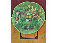 Ben 10 Folding Camping / Play Chair, Oval Shape Green/Black £3.50