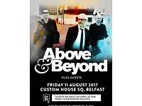 Above & beyond ticket Belfast 11th of August