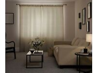 NEXT MADE TO MEASURE LINED PENCIL KUTA NEUTRAL 90 CURTAINS 260cmW 210cm drop
