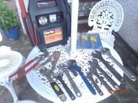 Various Wrenches, Grips, Torx Key Set & Clarke JumpStart 910