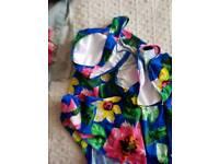 Padded skirt type swim suit brand new