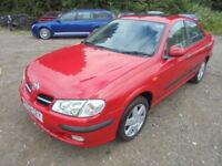 Nissan Almera 1.8 SE +, LOW MILES (red) 2002