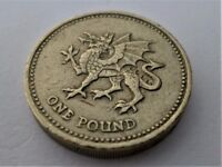 1995-200 - Dragon Passant Representing Wales – One Pound Coin – Print Abnormality
