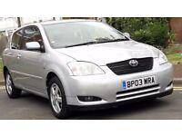 Toyota Corolla 1.6 VVT-I T3 2003 RARE Automatic CAL 07534101444 LOW MILES 2KEYS CheapPrice £1200 ono