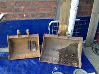 Genuine jcb excavator buckets inc two new teeth 18 & 24 inch