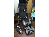 i-Safe 3 in 1 travel system with ISOFIX carseat base
