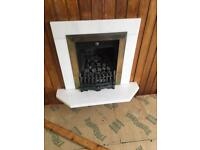 Traditional gas fire and surround